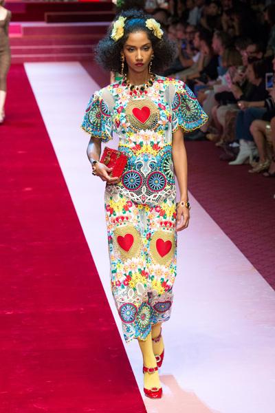 Dolce & Gabbana Spring 2018 Ready-to-Wear - Look #40