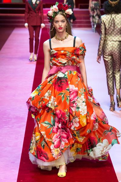Dolce & Gabbana Spring 2018 Ready-to-Wear - Look #50