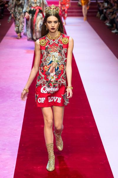Dolce & Gabbana Spring 2018 Ready-to-Wear - Look #59
