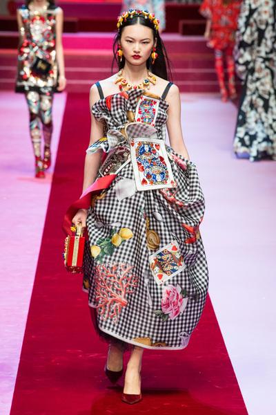 Dolce & Gabbana Spring 2018 Ready-to-Wear - Look #65