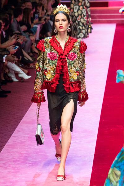 Dolce & Gabbana Spring 2018 Ready-to-Wear - Look #75
