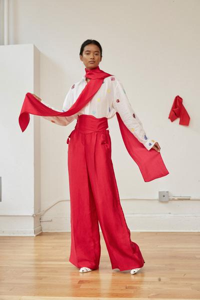 Rosie Assoulin Spring 2018 Ready-to-Wear - Look #3