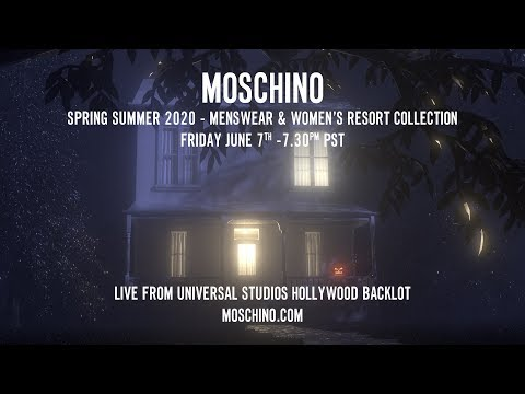 Moschino S/S20 Menswear and Women's resort collection video cover