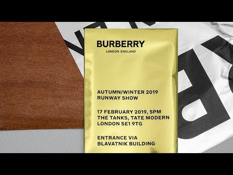 The Burberry Autumn/Winter 2019 Show video cover